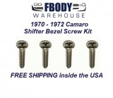 1970 - 1972 Camaro Shift Plate Mounting Screw Kit