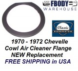 1970 - 1972 Chevelle Cowl induction Air Cleaner Flange NEW