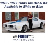 1970 - 1972 Trans Am Full Decal Kit 2 Available Colors!