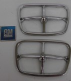 1969 - 1973 Trans Am Firebird Front Parking Light Bezels GM nice