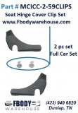 1970 - 1981 Camaro Trans Am Seat Hinge Cover Clips Pair