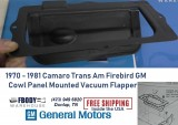 1970 - 1981 Camaro Trans Am Cowl Panel Vacuum Flapper Door GM