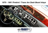 1970 - 1981 Trans Am Firebird Dash Bezel Decal Inlays
