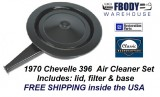 1970 Chevelle Air Cleaner Assembly Cowl Induction 396 Models