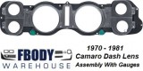 1970 - 1981 Camaro Dash Lens Assembly NEW
