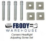 1967 - 1981 Camaro Firebird ROUND Head Light Adjuster Screw Set NEW