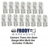 1970 - 1981 Trans Am Camaro Dash Gauge Light Bulb Set
