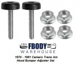 1970 - 1981 Camaro Trans Am Hood Bumper Adjuster Set