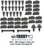 1970 - 1981 Camaro Trans Am Fender Inner Fender Mounting Kit 52 Piece