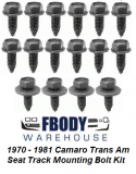 1970 - 1981 Camaro Trans Am Seat Track Mounting Kit