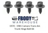 1970-1981 Camaro Trans Am Trunk Hinge Bolt Set