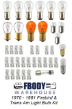 1970 - 1976 Firebird & Trans Am Light Bulb Kit