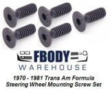 1970 - 1981 Trans Am Steering Wheel Mounting screw Kit