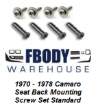 1970 - 1978 Camaro Trans Am Seat Back Mounting Screw Set