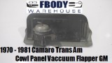 1970 - 1981 Camaro Trans Am Cowl Panel Vacuum Pump & Flapper GM
