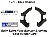 1970 - 1973 Camaro Urethane Nose to Radiator Support Brackets Pair Rally Sport Cars only.
