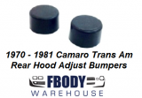 1967 - 1981 Camaro Trans Am Rear Hood Adjust Bumpers Pair