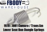 1971 - 1981 Camaro Trans Am Seat Bottom Tension Springs Used GM!