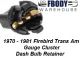 1970 - 1981 Trans Am Dash Bulb Retainer Sold Indiviualy