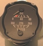 1970 - 1981 Secondary Oil and Water Gauges GM units