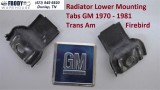 1970 - 1981 Trans Am Lower Radiator Mounting Tabs GM Pair