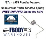 1971 - 1974 Ventura Accelerator Pedal Tension Spring NEW
