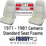 1971 - 1981 Camaro New Replacement Seat Foam Front Buckets STANDARD SEATS