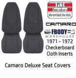 1971 - 1972 Camaro Deluxe CHECKER BOARD Front & Rear Seat Covers