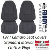 1971 - 1977 Camaro STANDARD Front & Rear Seat Covers CLOTH
