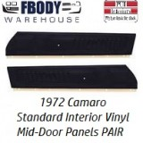 1972 Camaro Standard Mid Door Panels NEW Reproduction Vinyl