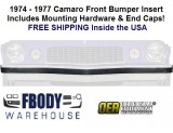 1974 - 1977 Camaro Front Bumper Filler Impact Strip NEW