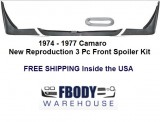 1974 - 1977 Camaro Lower Front Spoiler 3 pc