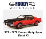1975 - 1977 Camaro Rally Sport Decal Kit
