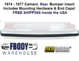 1974 - 1977 Camaro Rear Bumper Filler Impact Strip NEW