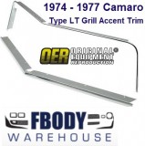 1974 - 1977 Camaro Type LT Front Grill Polished Moulding Kit NEW