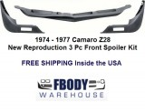 1974 - 1977 Camaro Lower Front Spoiler 3 pc for Z28