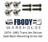 1970 - 1981 Trans Am DELUXE Seat Back Mounting Screw Kit