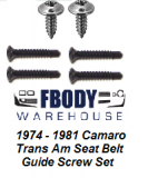 1974 - 1981 Camaro Trans Am Seat Belt Guide Mounting Kit