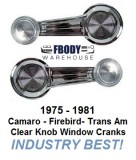 1975 - 1981 Camaro and Trans Am Window Crank Handle NEW Clear Knob
