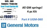 1975 - 1981 Camaro Trans Am Seat Track Spring Kit GM Set