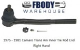 1975 - 1981 Camaro Trans Am Front Inner Tie Rod End RH