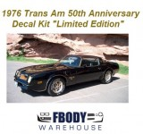 1976 Trans Am LE (Limited Edition) Black & Gold Special Edition Decal Kit