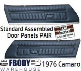 1976 Camaro PRE Assembled STANDARD Door Panels NEW 4  Colors Available