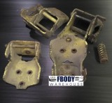 1970 - 1981 Camaro Trans Am Door Hinge Set 4 Upper Lower GM Units