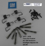 1977 1978 Trans Am Head Light Adjuster Set GM