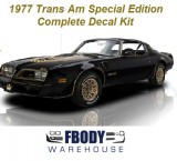 1977 Trans Am SE Black & Gold Special Edition Decal Kit