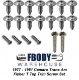 1978 - 1981 Camaro and Trans Am Fisher T Top Screw Set