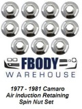 1977 - 1981 Camaro Air Induction Retaining Nut Set