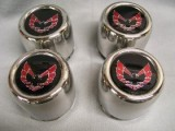 Trans Am Center Caps Red Bird STAINLESS STEEL Set of 4 NEW