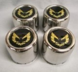 Trans Am Center Caps Gold Bird STAINLESS STEEL Set of 4 NEW